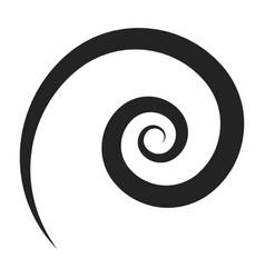 spiral black icon twist decorative design vector image