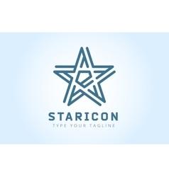 Star logo icon Leader boss symbol vector