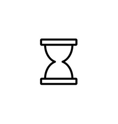 thin line sand clock icon vector image