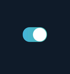 Toggle switch on and off button good for phone vector