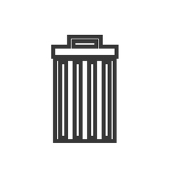 Trashcan waster icon vector image