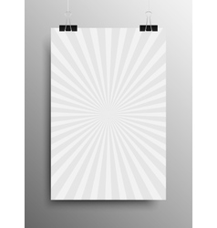 Vertical Poster Grey Shining Sun-Rays Rays vector image