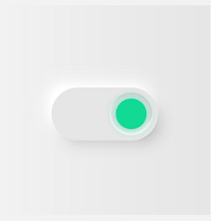 very high detailed white user interface switch vector image