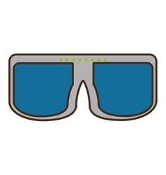 cartoon vr glasses device wireless vector image vector image