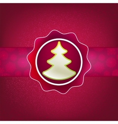 Christmas background and tree EPS8 vector image vector image