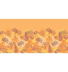 Desert flowers and leaves horizontal seamless vector image vector image
