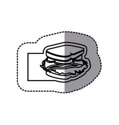 figure emblem sandwich icon vector image