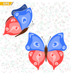 insect with wings floating butterfly life is vector image