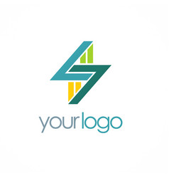 letter s shape business logo vector image
