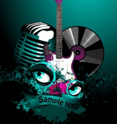 music collage vector image vector image