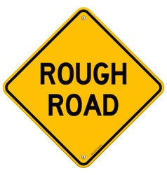 Rough Road Warning vector image