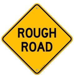Rough Road Warning vector image vector image