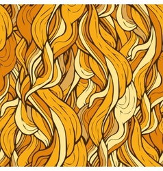 Decorative ornamental pattern with golden hair vector image