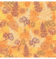 Desert flowers and leaves seamless pattern vector image vector image