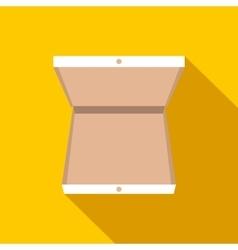 Open pizza box flat icon vector image