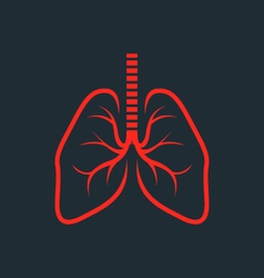 Symbolic human lungs silhouette - fluorography vector image