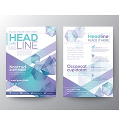 Abstract polygon brochure flyer template layout vector image vector image