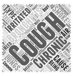 bronchitis chronic cough symptom Word Cloud vector image vector image