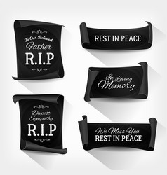funeral rest in peace banners vector image