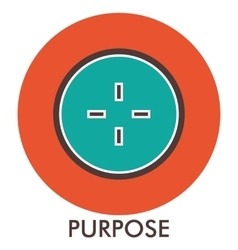 Purpose sight sense of purpose Line icon with vector image