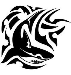 Tribal tattoo of shark vector image vector image