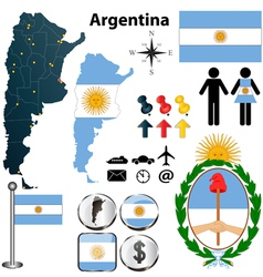Argentina map vector image vector image