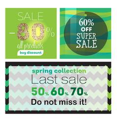 big sale banners ribbon vector image vector image