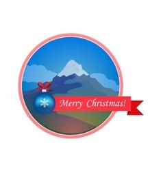 Merry Cristmas Card vector image vector image