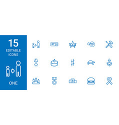 15 one icons vector