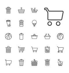 22 basket icons vector