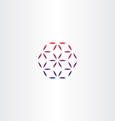 Abstract business hexagon logo design vector