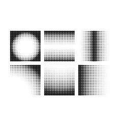 abstract halftone background collection vector image