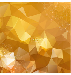 Abstract polygonal orange red low poly background vector