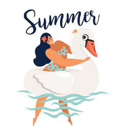 abstract summer time card with vector image