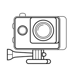Action camera line art simple gadget icon vector