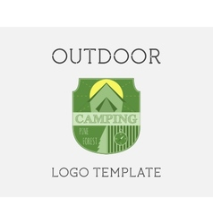 Adventure Outdoor Tourism Travel Logo Template vector image vector image