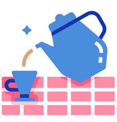 Afternoon tea flat vector