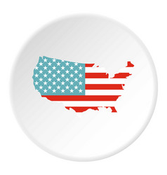 American map icon circle vector
