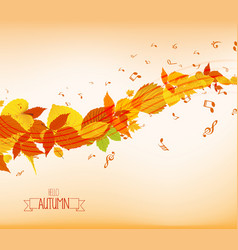 An autumn leaves and musical is my soul background vector