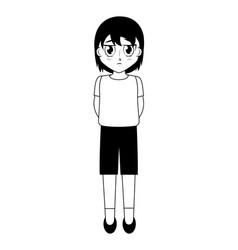 Anime boy manga character vector