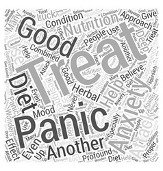Anxiety and panic attack word cloud concept vector