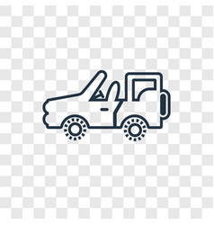 army car concept linear icon isolated on vector image