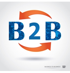 b2b business to business vector image