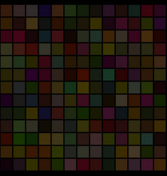 background of art colored dark squares mosaic vector image