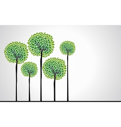 Beautiful green trees vector image vector image
