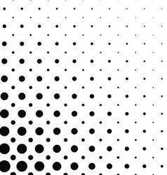 Black and white dot pattern design vector image