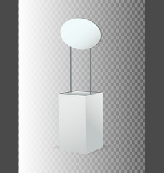blank promotion stands on a white background vector image