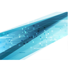 blue abstract technology futuristic background vector image