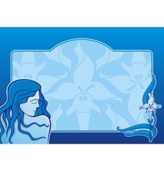 blue spa girl horizontal vector image vector image