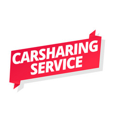 Carsharing service car for rent word on red vector